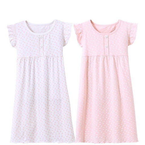 3-14 years cotton children's home wear nightdress girl baby pajamas autumn fall summer