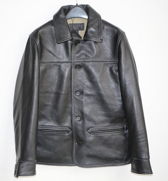 Free shipping 100% genuine leather Jackets,classic oil wax cow leather jacket,japan brakeman jacket.original