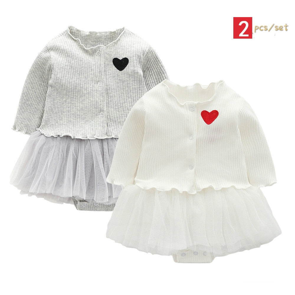 257983122c694 baby girl dress long sleeve Heart-shaped baptism dress for baby ...