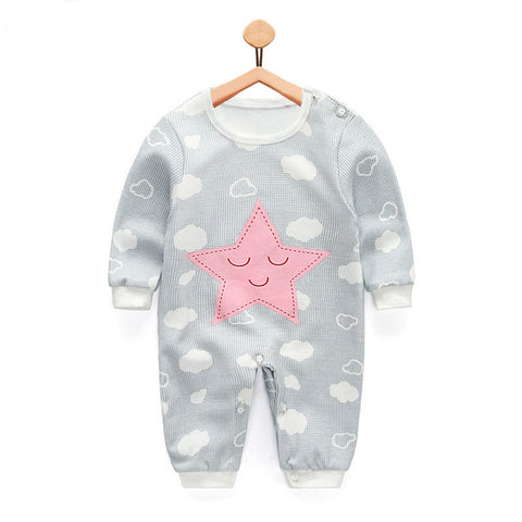 Autumn new baby clothing cotton Long Sleeved baby boy clothes cartoon printing baby girls clothes baby romper Infantil bebe