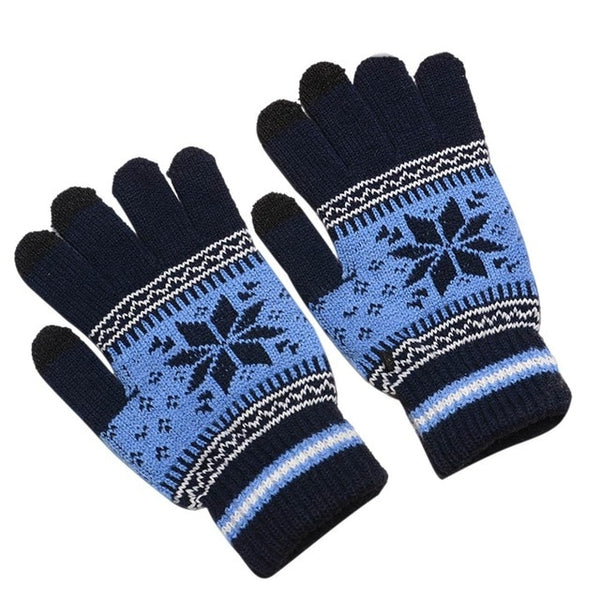 Fashion Winter Men Women Knitted Gloves Keep Warm Fitness Touchable Screen Glove For Mobile Phone iPad Tablet AIC88