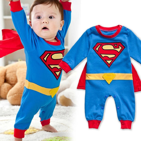 New Style Baby Boy Romper Newborn Baby Clothes Cute Superman Batman New Born Baby Clothing Wan Chai Bebe Children Romper