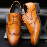 Men Casual Natural Leather Loafers Formal Oxford Business Classic Dress Wedding Shoes Male Breathable Shoes Plus Size 38-47