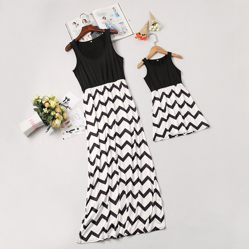 c1da90855dd55 Family Look Long Mother Daughter Matching Dresses Family Matching Outfits  Mommy And Me Dresses Clothes Roupa mae e filha Outfits