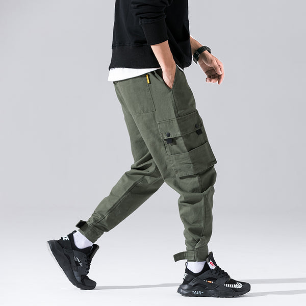 Hot Original Design Style Camouflage Jogger Cargo Style Trousers  Autumn Multi-Pockets Fashion Streetwear Pants Casual