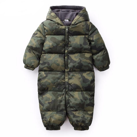 Cotton Baby Boy Coats Long Sleeve Winter Jackets Hooded Baby Girl Jumpsuits Infant Coat Newborn Outerwear For Kids Clothes