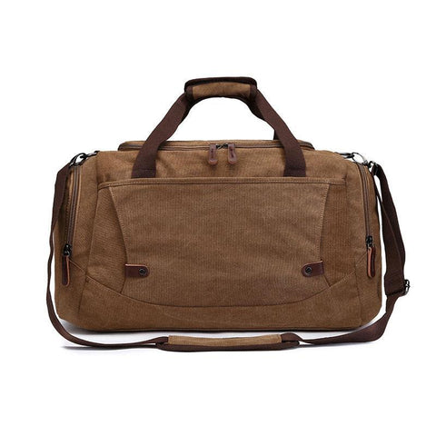 Men Large Capacity Canvas Travel Bags Solid Waterproof Luggage Duffel Shoulder Bag Crossbody Portable Handbag Suitcase