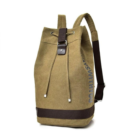 Large capacity Rucksack Man travel bag mountaineering backpack Men canvas bucket shoulder bags Male Canvas Backpacks Mochila