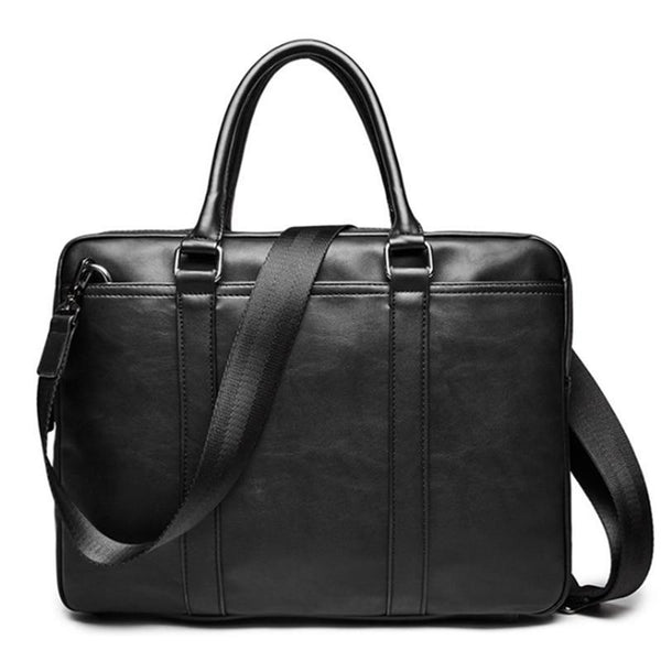 Promotion Simple Famous Brand Business Men Briefcase Bag Luxury Leather Laptop Bag Man Shoulder Bag bolsa maleta