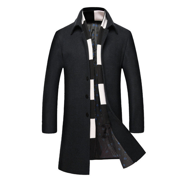 7a24675be35fa2 ... Slim Fit Winter Mens Long Cashmere Wool Jacket Coat Men Thick Extra  Long Winter Jackets Coats ...