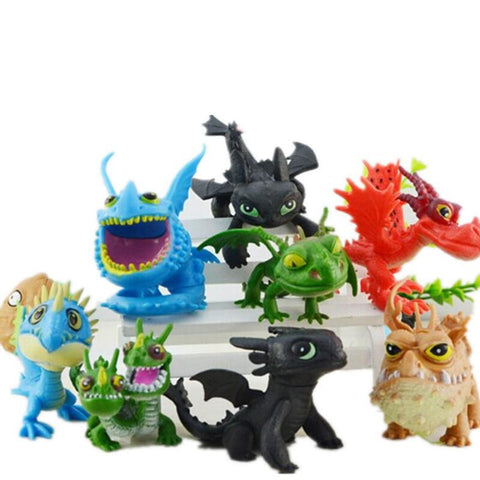 8 Pcs/set How To Train Your Dragon 2 Figures Night Fury Toothless PVC Dragon Action Figures Children Kids Toys Model Gift