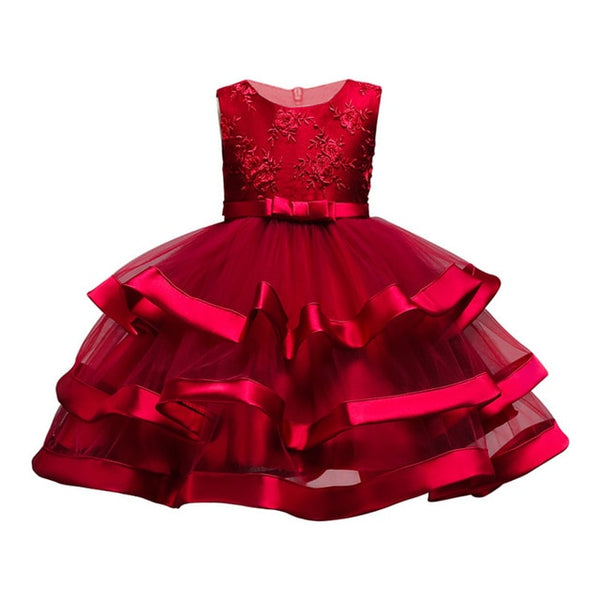 Baby Girls Party Dress Elegant Girl Evening Dress For Wedding Birthday Kids Dresses For 2 to 10 yeas Girls Clothes