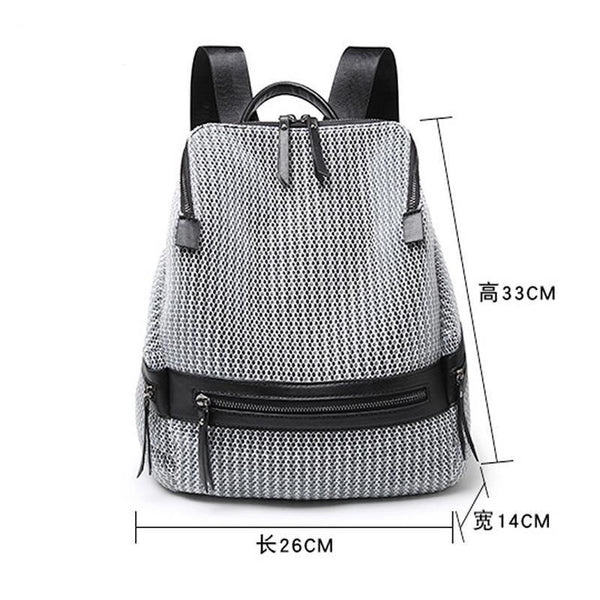 Canvas Backpack Women Large Capacity Adjustable Travel Bag Teenage Girl Casual Schoolbags Fashion Ladies Backpack 2018