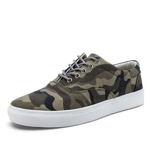 Designer Men Canvas sneakers Casual camouflage Flat army Shoes big size male zapatillas Breathable shoes EE-80