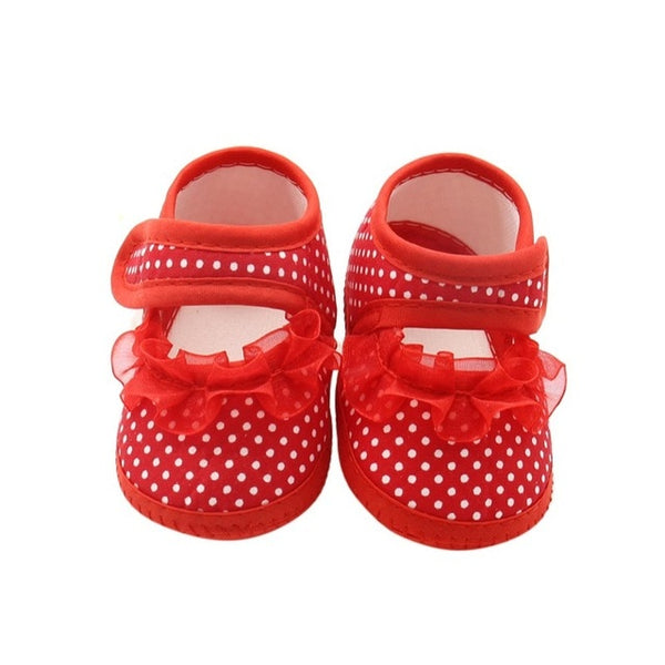 Toddler Shoes Lace Spring Newborn baby boy Girls Booties Polka Dot Baby Shoes Moccasins Newborn Girls Booties for Newborn