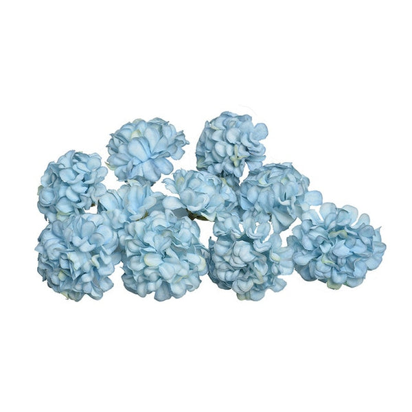 10pcs/lot artificial flower silk hydrangea flower head for wedding party home decoration DIY wreath gift box scrapbook craft