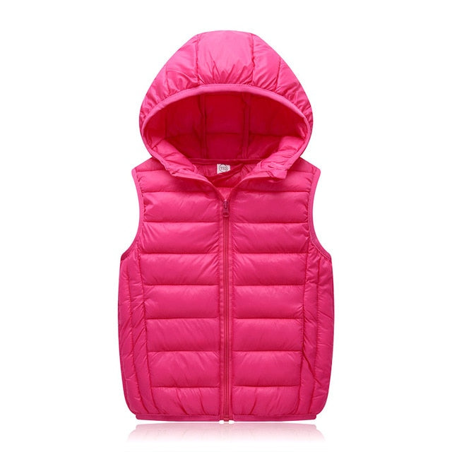 cee2c4cdd Hooded Child Waistcoat Children Outerwear Winter Coats Kids Clothes Warm  Cotton Baby Boys Girls Vest For Age 3-12 Years Old