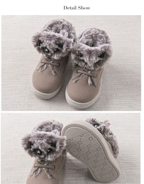 Autumn winter baby boy girl casual shoes brand shoes children winter shoes with fur
