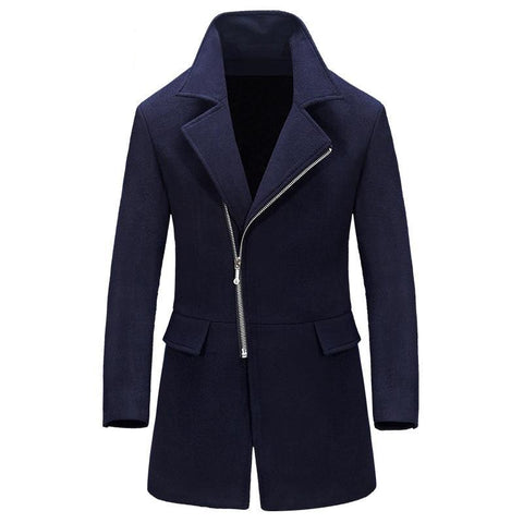 Business Casual Long Mens Overcoat Male Winter Wool Windbreaker Coat Men Brand Slim Fit Trench Coat Jacket Clothing