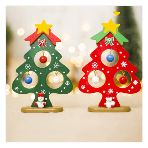 Christmas Decoration For Home  Popular Wooden Train Decor Christmas Valentine's Day Gift New Year Supplies Doll Gift
