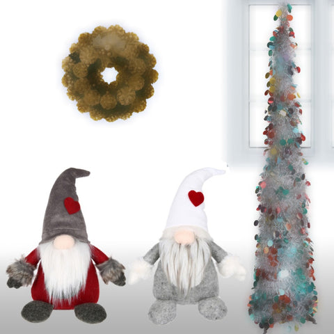 Christmas Home Decor Santa Claus Tomte Standing Gnome Plush Doll Long Hat Christmas Decorations For Home