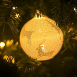 Christmas LED Light Balls Snowflake Elk Star Printed Ball Pendant Christmas Decorations For Home