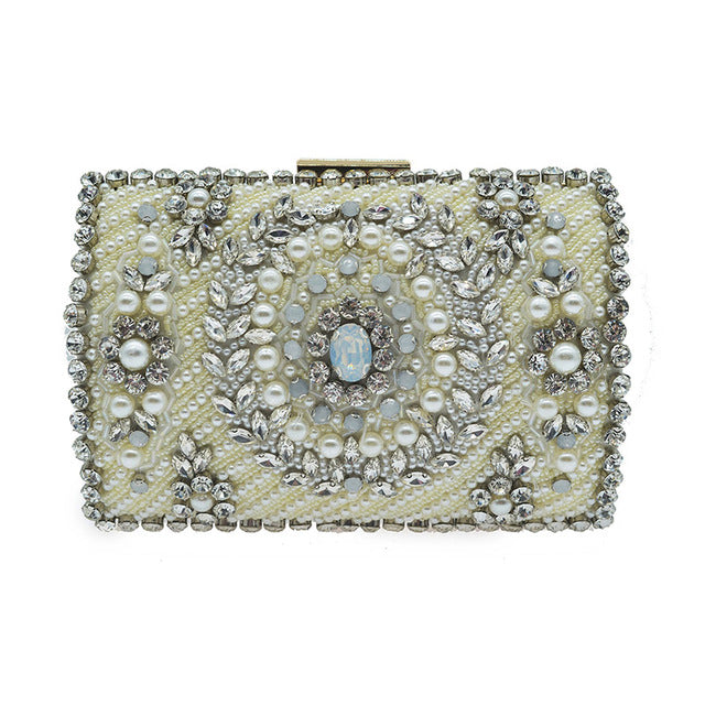 ... Luxury Beaded Evening Bags For Women High Quality Pearl Evening Clutch  Bag Wedding Banquet Purse Rhinestone ... 4277dce49a6d7