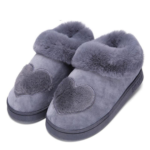 5b75b99cb6b1d Winter Warm Cotton Shoes Lovers Couple Soft Heart-Shaped Slippers Comfort Home  Shoes for Woman