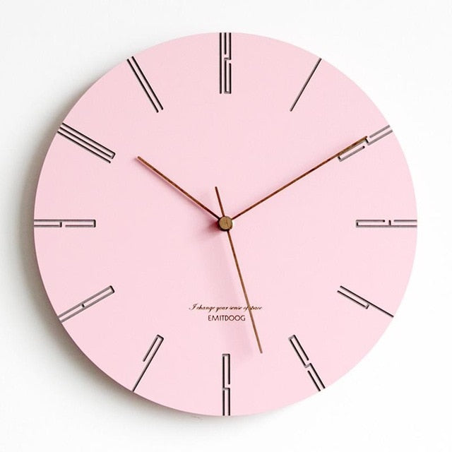 Nordic Clocks Modern Minimalist Creative Wall Clock Living Room Home ...