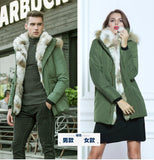 Winter Jacket High Quality Men's Long Duck Down Jacket Coat Thick Liner Male Warm Clothes Rabbit Fur Collar Warmth Hooded