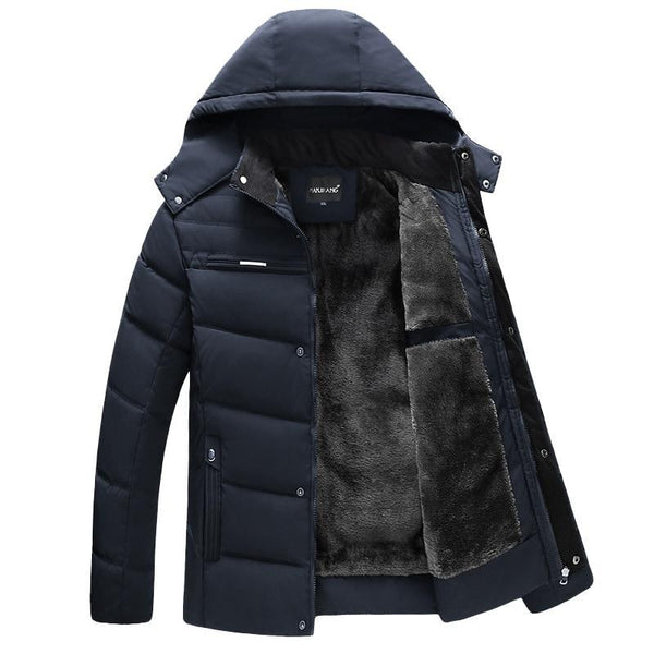 Men Winter Down Jacket and Coat New Casual Hooded Jackets Warm Fleece Down Parkas Male Fashion Thick Outwear Coats XL-4XL
