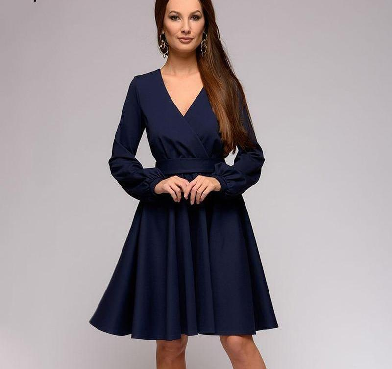 1a747dbb67eec Spring Summer Sexy V-Neck Dress Women 2019 Fashion Wear Before and After  A-Line Long Sleeve Sashes Elegant Mini Party Dresses