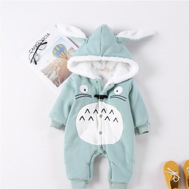 7e7e8193666 JOHNKART.COM.  33.15 USD. baby toddlers rompers clothes cute rabbit ear  Hooded baby boy girl Outwear keep warm ...