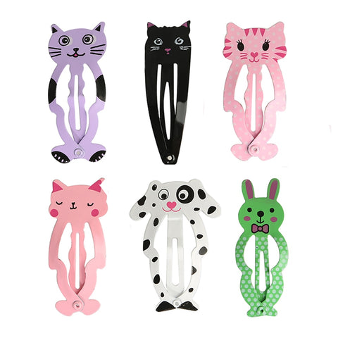 6pcs/set Fashion Cute Women Kids Animal Hairpins headwear barrettes Hair clips Snap Clips Children Girls Hair Accessories Gifts
