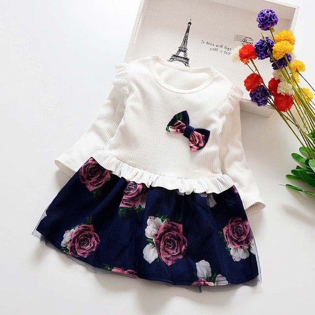 fef569d5ef11 new Baby Spring Girl Dress Christmas Party Dresses Kids Girls Floral ...