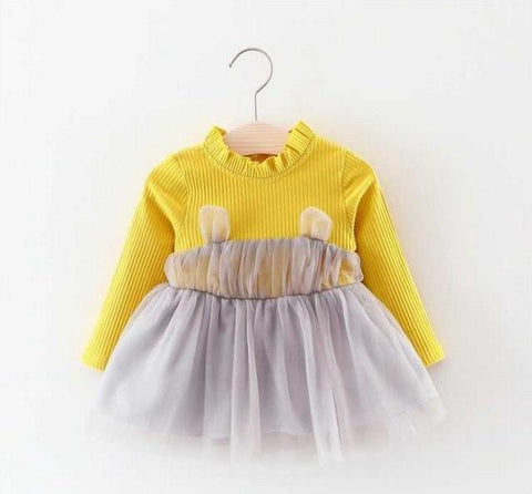 Newborn Kids Baby Girls Long Sleeve Knit Top Tutu Dress Party Clothes