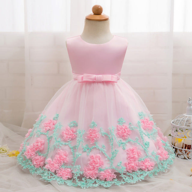 ... vintage Baby Girl Clothing Dresses for Girls Baptism 1st year Birthday  Party Wedding Christening Gown Infant ... 539711e8a699