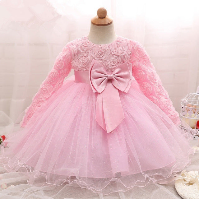 e58a7226b ... vintage Baby Girl Clothing Dresses for Girls Baptism 1st year Birthday  Party Wedding Christening Gown Infant ...