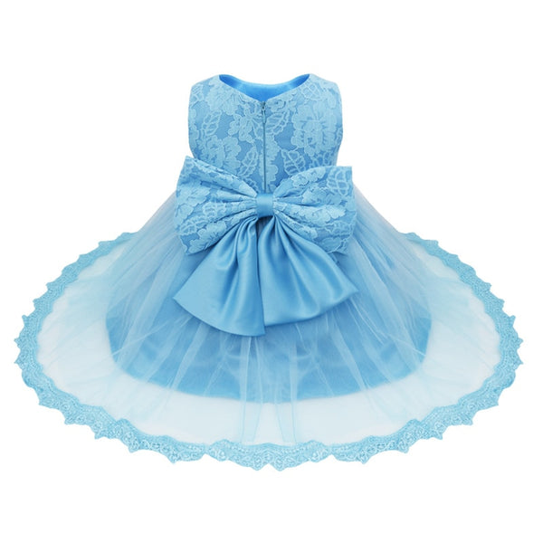 Formal Ball Gown Clothing Elegant Dresses for Girls Summer Princess Party Tutu Baby Dress Kids Clothes Blue Christmas Child