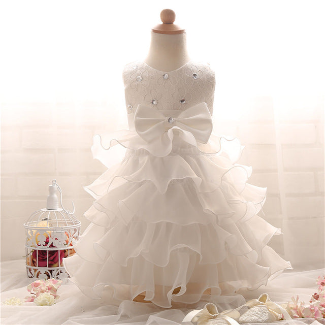 ... Pretty Baby Girl Fluffy Infant Christening Gowns Baby Girl 1 Year First  Birthday Party Dresses For ... 191a3852b29e