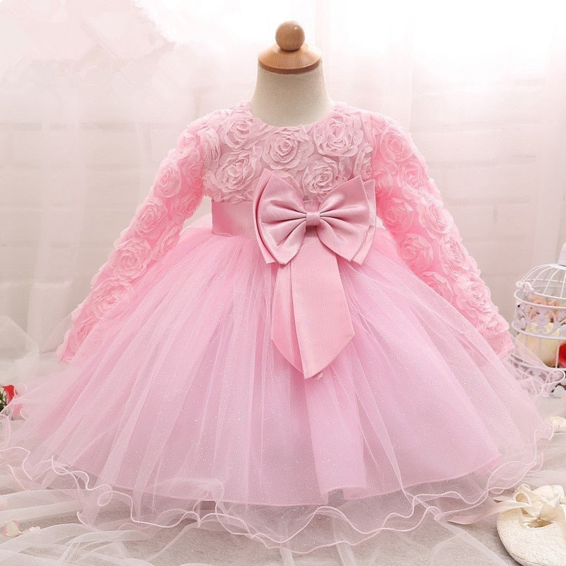21a6912396 Long Sleeve Baby Girls Dresses For Baby Clothing 1st Birthday Party ...