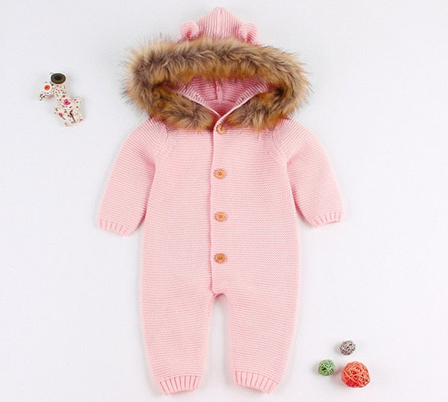 8b308873d82 Newest Infant Baby Rompers Winter Clothes Newborn Baby Boy Girl Knitte