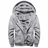 Fleece Hoodies Men 2018 Winter Thick Warm Fleece Zipper Hooded Coat Mens Bomber Jacket Tracksuit Male US/European Hoodies