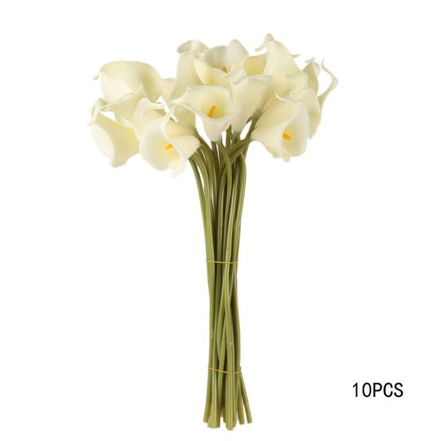 10pcs Lot Artificial Flowers Latex Calla Lily For Home Decoration Wedd Johnkart Usa Llc,Front New Dream House Home Design
