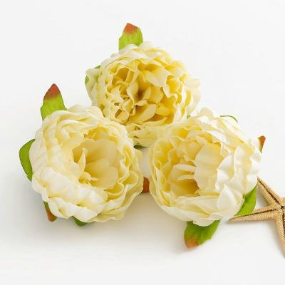 5pcs/lot 10cm High Quality Peony Flower Head Silk Artificial Flower Wedding Decoration DIY Garland Craft Flower
