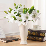 Multicolor Artificial Lily Flower Bouquet Fake Flowers Bridal Flower for Wedding Wreath Decoration Wedding Decoration