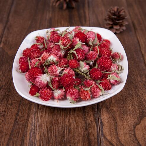 20pcs naturally Dried flower red Gomphrena globosa buds, Pressed Flowers For Wedding Party / New Year DIY Decoration