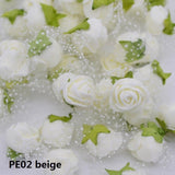 50pcs/lot Colorful Artificial Rose Flowers Head Handmade DIY Wedding Home Decoration Multi-use Lace PE Foam Rose Party Supplies