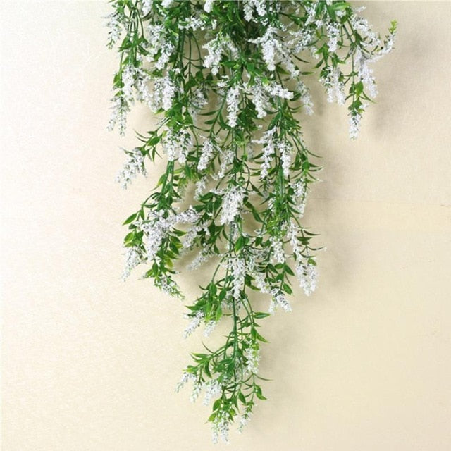 d07f55e7ebb ... Hot Simulation Lavender Plants Flower Vine Wall Hanging Garland  Artificial Ivy Wedding Home Party Decoration ...