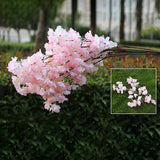 Artificial 1 Branchlet High-end Simulation Cherry Blossoms Plant Flowers Japanese-style Fake Wedding Home Decoration